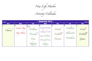 brambles activity calendar